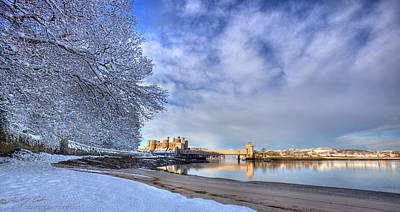Photograph - Conwy Castle Snow by Beverly Cash