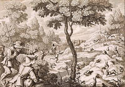 Cony Catching, Engraved By Wenceslaus Print by Francis Barlow