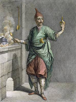 Palace Drawing - Cook At Topkapi Palace by French School