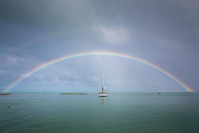 Double Rainbow Photograph - Cook Islands, Aitutaki by Aliscia Young