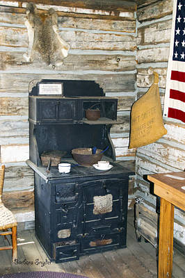 Polaroid Camera - Cook Stove Whiskey Flats Miners Cabin by Barbara Snyder