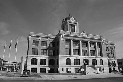 Photograph - Cooke County Courthouse Bw by Robyn Stacey