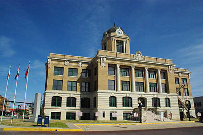 Photograph - Cooke County Courthouse Backside by Robyn Stacey