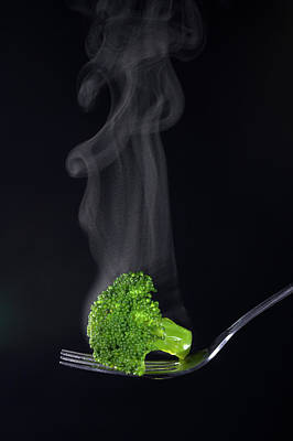 Broccoli Wall Art - Photograph - Cooked Broccoli by Simon Booth/science Photo Library