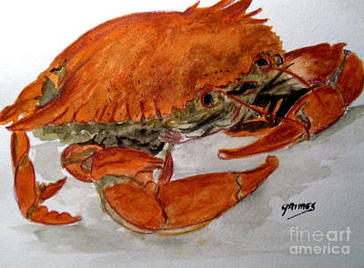Painting - Cooked Crab Dinner 2 by Carol Grimes