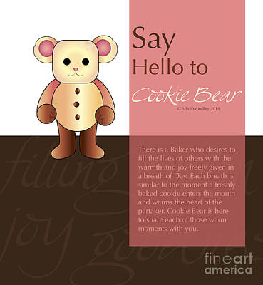 Digital Art - Cookie Bear by Affini Woodley