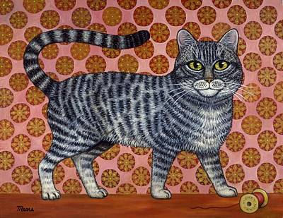 Cookie Cat Art Print by Linda Mears