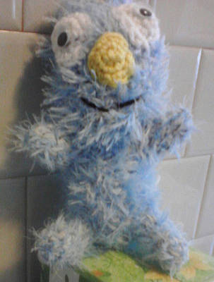 Amigurumi Tapestry - Textile - Cookie Monster by Sarah Biondo