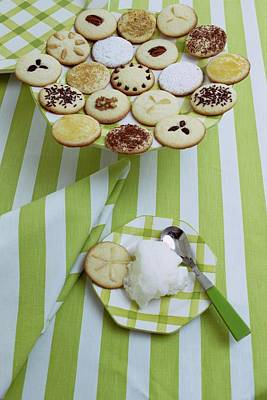 Tableware Photograph - Cookies And Icing by Susan Wood