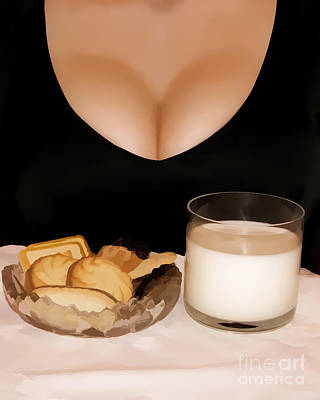 Photograph - Cookies And Milk by Olga and Robert W Hamilton Jr