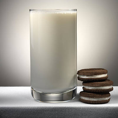 Cookies And Milk Art Print by Robert Mollett