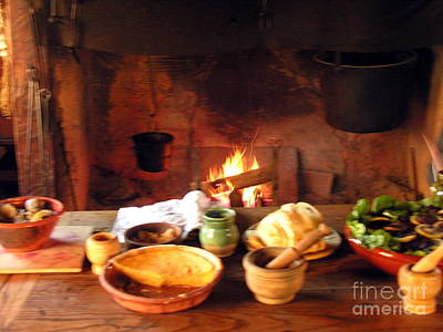 Photograph - Cooking In Historic Jamestown by Jacqueline M Lewis