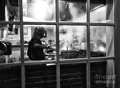Photograph - Cooking In Nawlins Mono by John Rizzuto