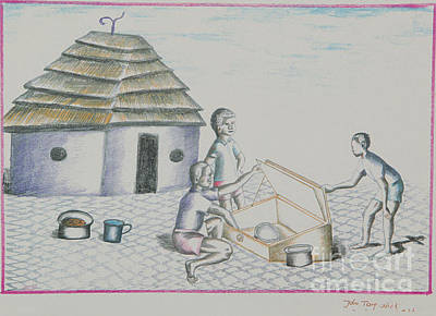 Drawing - Cooking by Lunda Vincente