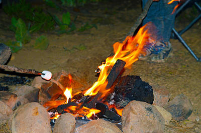 Photograph - Cooking Marshmallows  by Brent Dolliver