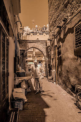 Cooking On The Streets Of Marrakech Art Print