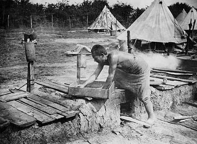 Belgium Photograph - Cooking On The Western Front by Underwood Archives