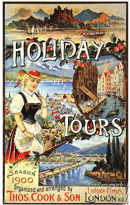 Cook�s 1890s Uk Holidays Holiday Art Print by The Advertising Archives