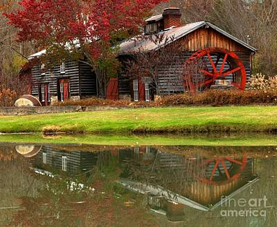 Photograph - Cook's Old Mill Forge Building by Adam Jewell