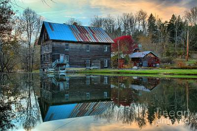 Photograph - Cooks Old Mill West Virginia by Adam Jewell