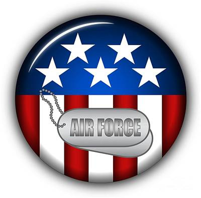 Armed Forces Mixed Media - Cool Air Force Insignia by Pamela Johnson