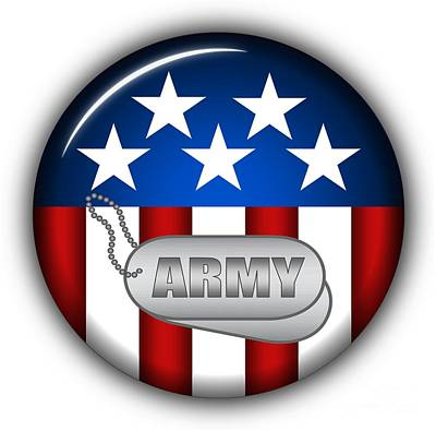 Cool Army Insignia Art Print