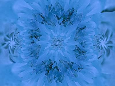 New Zealand Mixed Media - Cool Blue - Duvet by Nancy Pauling