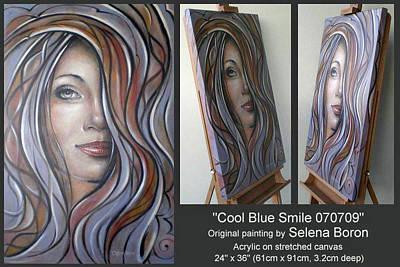 Cool Blue Smile 070709 Comp Art Print by Selena Boron