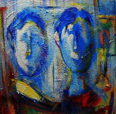 Painting - Cool Blues  by Marina R Burch