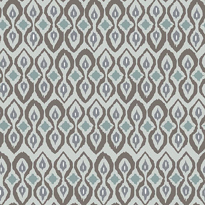 Graphic Drawing - Cool Boardwalk Ikat by Sharon Turner