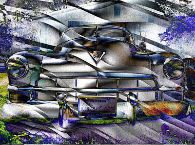 Digital Art - Cool Cadillac by Kiki Art