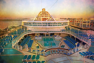 Cool Caribbean Princess Art Print by Betsy Knapp
