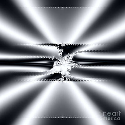 Digital Art - Cool Clean Stainless . Fractal by Renee Trenholm