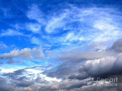 Cool Clouds Print by Jay Nodianos