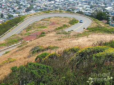 Photograph - Cool Drive On Twin Peaks - San Francisco by Connie Fox