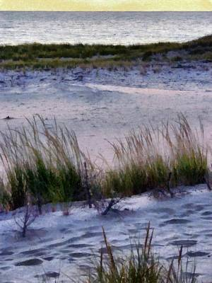 Coast Painting - Cool Dunes At Sunset by Michelle Calkins