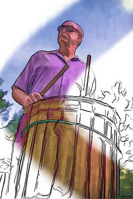 Mixed Media - Cool Hand Drummer by John Haldane