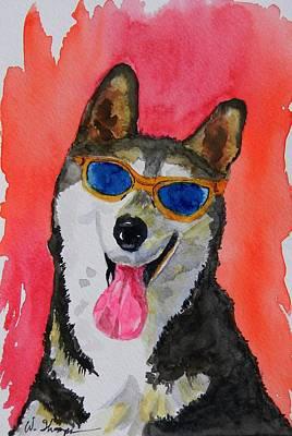 Cool Husky 3 Art Print by Warren Thompson