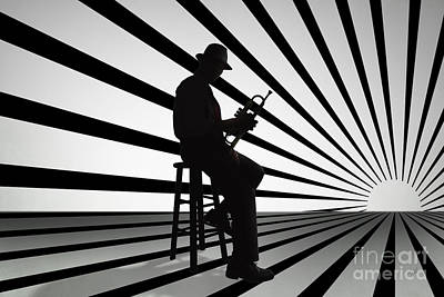 Trumpet Digital Art - Cool Jazz 2 by Peter Awax