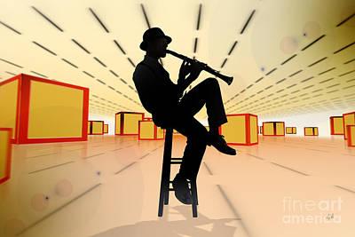 Trombone Mixed Media - Cool Jazz 3 by Bedros Awak