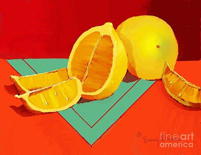 Table Cloth Digital Art - Cool Lemonade  by Dessie Durham