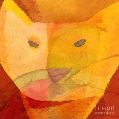 Yellow Cat Digital Art - Cool by Lutz Baar