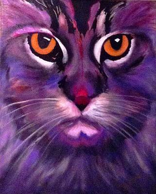 Painting - Cool Maine Coon by Bill Manson