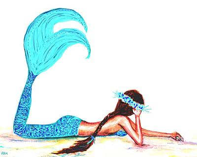 Painting - Cool Mermaid by Leslie Allen