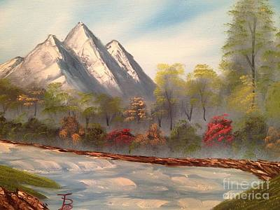 Bob Ross Painting - Cool Mountain River by Tim Blankenship