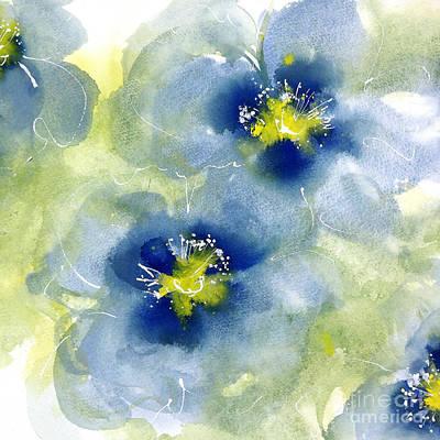 Cool Poppies 1 Art Print