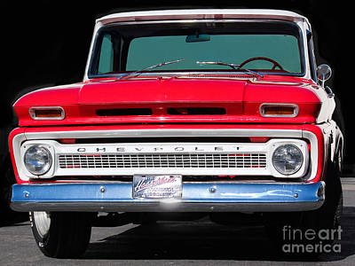 Chevy C10 Photograph - Cool Red Chevy Truck by Robert Yaeger