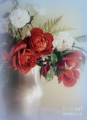 Photograph - Cool Red Roses by Diana Besser