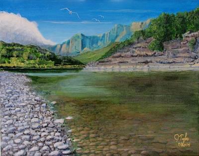 Cool River Art Print
