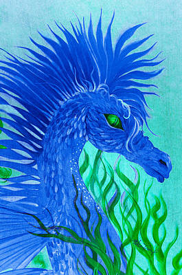 Painting - Cool Sea Horse by Adria Trail